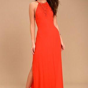 Red Petra Maxi Dress